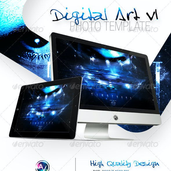 Digital Art Photo Template V1