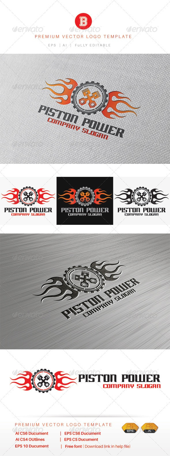 Piston Power - Objects Logo Templates