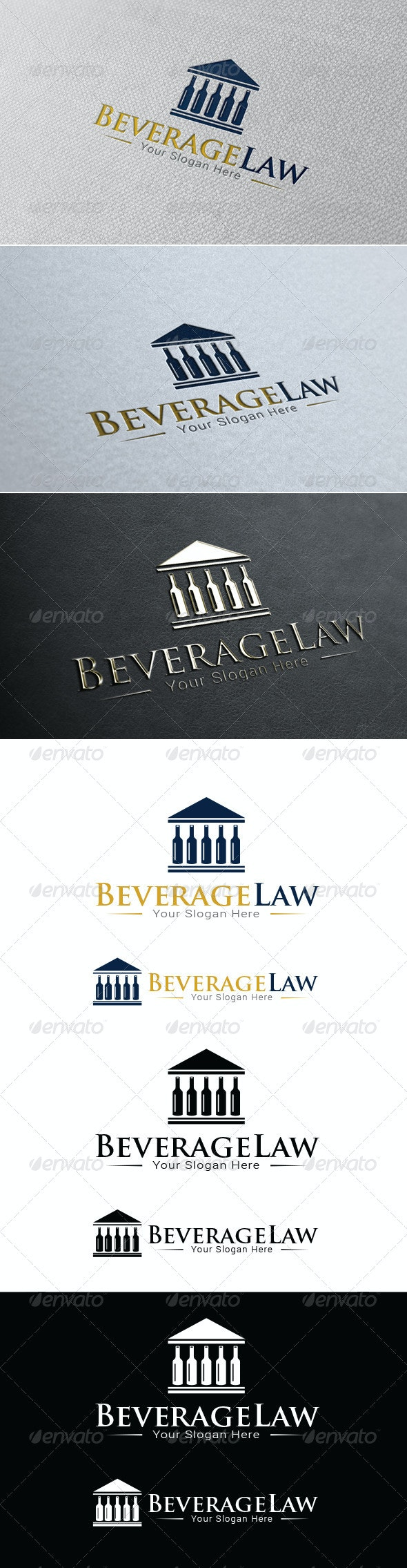Beverage Law Firm Logo Template - Symbols Logo Templates