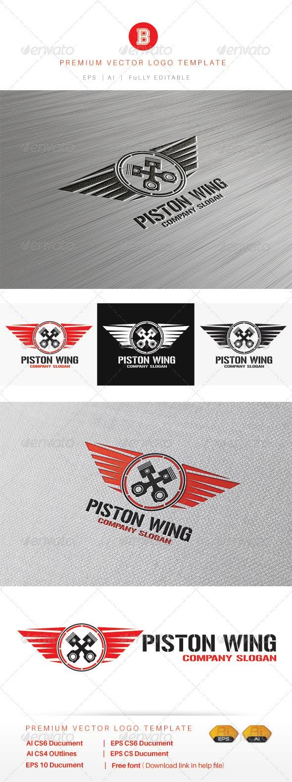 Piston Wing - Objects Logo Templates