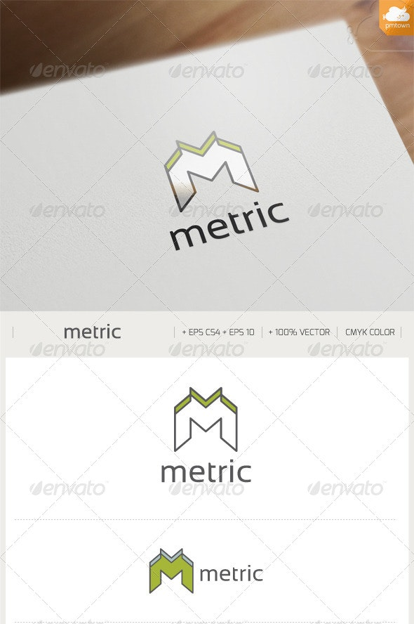 Metric Logo - Letters Logo Templates
