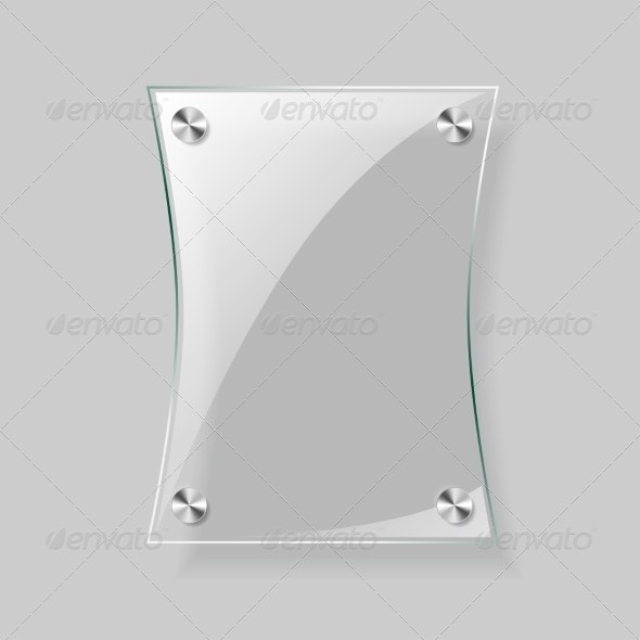 Glass Rectangle Plate - Borders Decorative