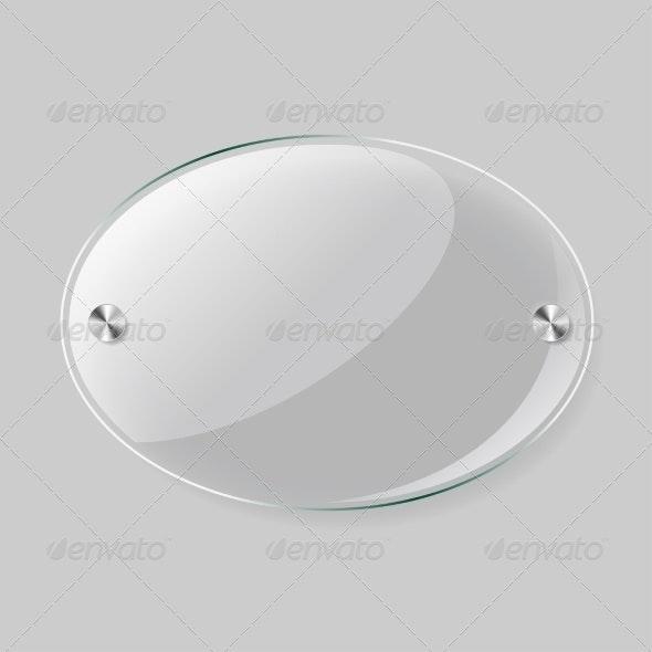 Glass Round Plane - Borders Decorative