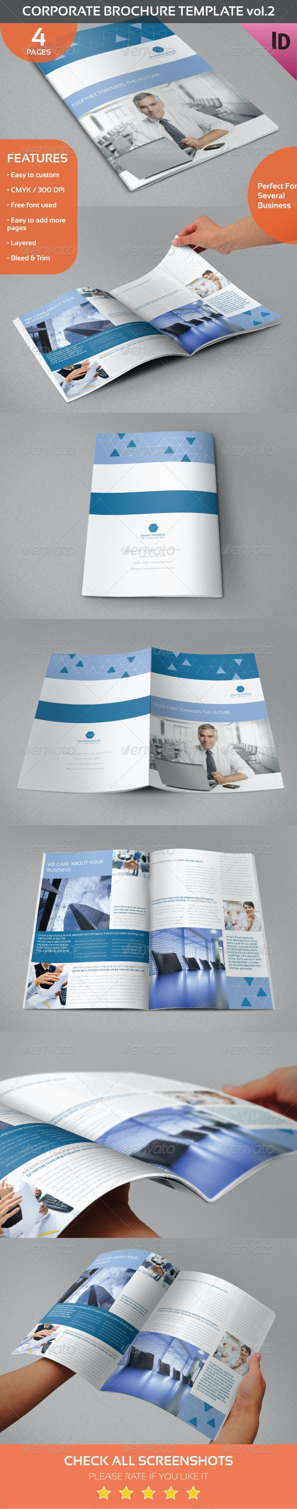 Corporate Brochure Template vol.2 - Informational Brochures