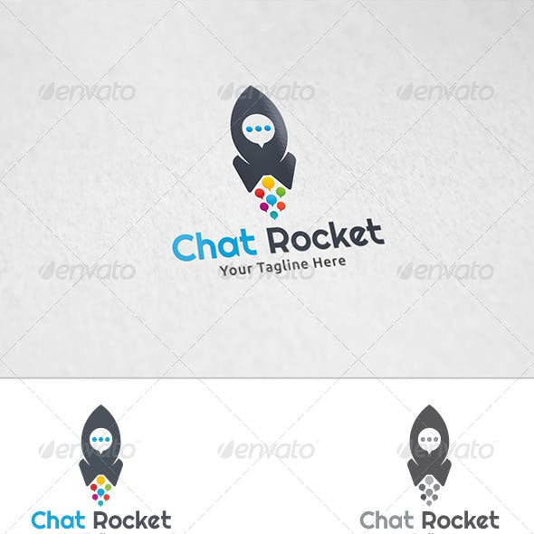 Chat Rocket - Logo Template