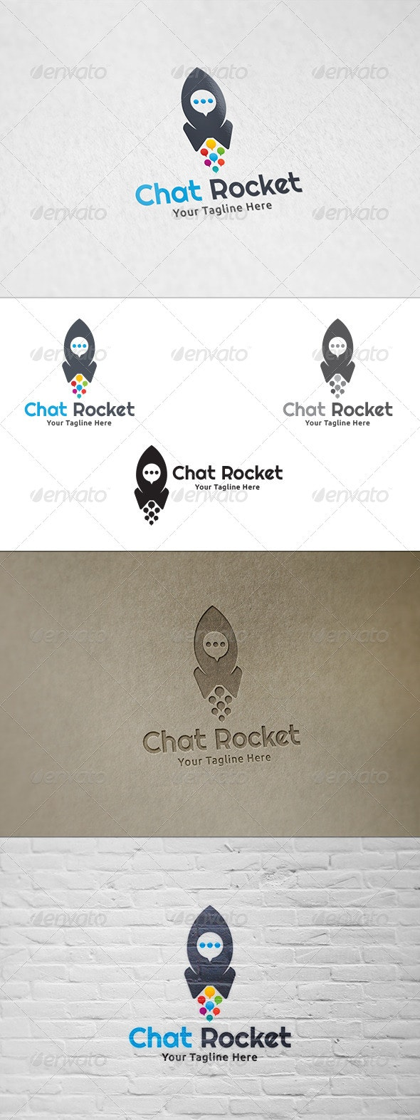 Chat Rocket - Logo Template - Symbols Logo Templates
