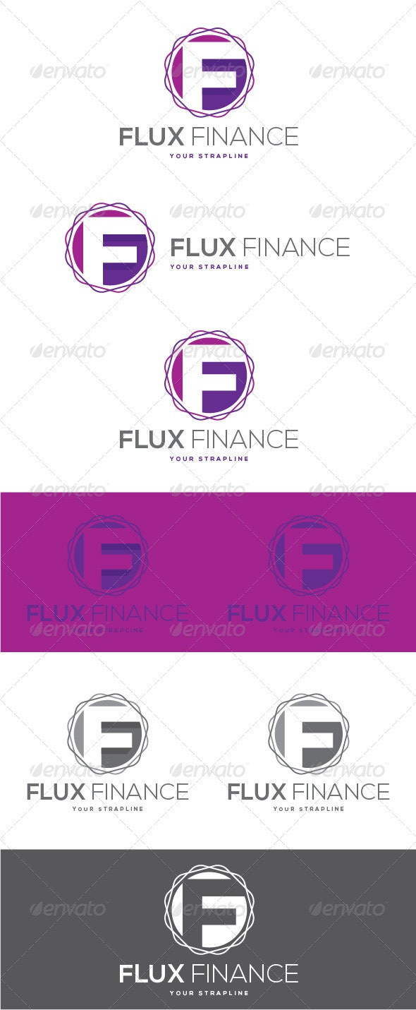 Flux Finance Letter F Logo - Letters Logo Templates