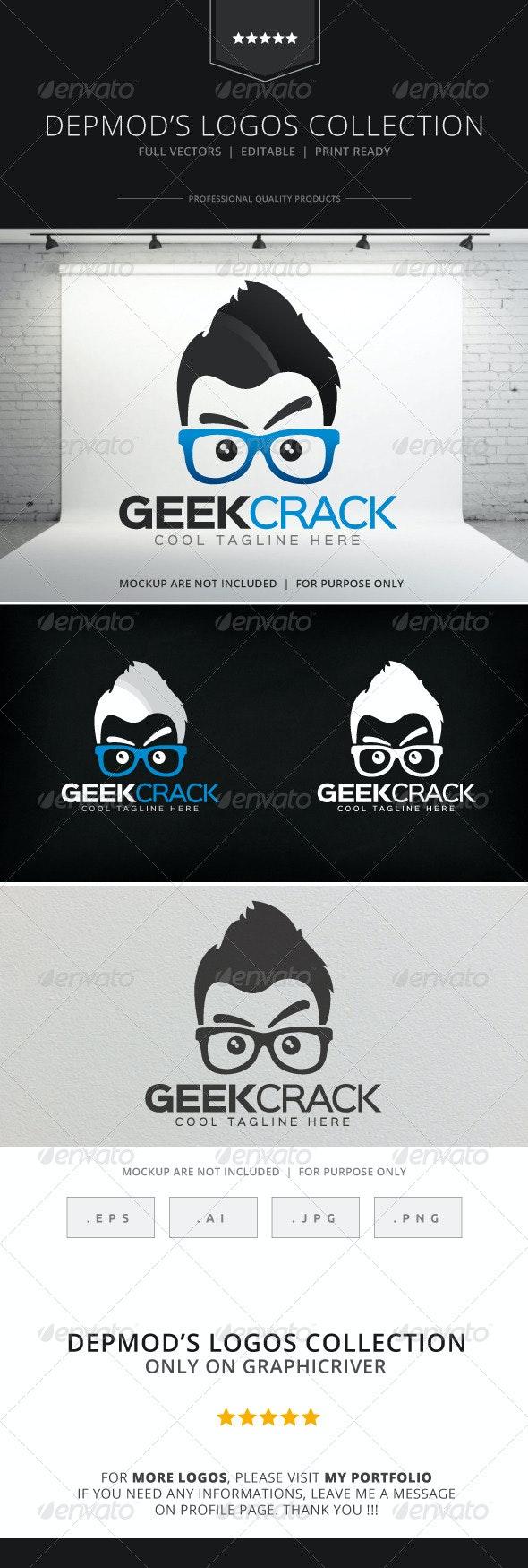 Geek Crack Logo - Humans Logo Templates
