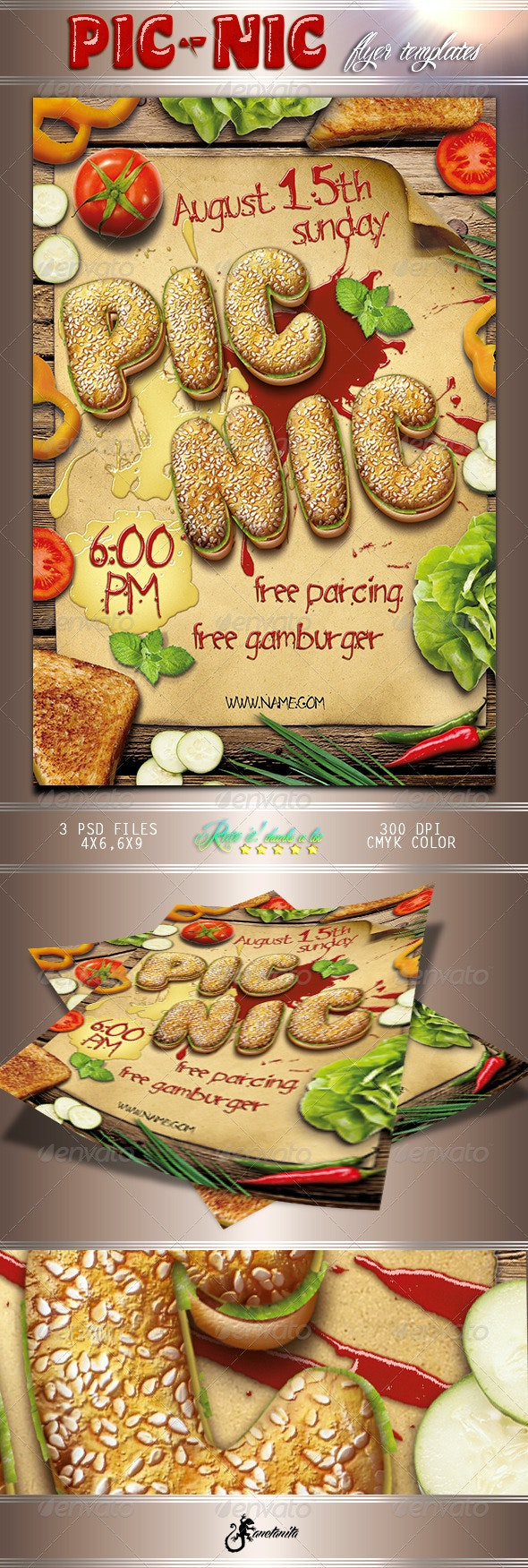 Picnic Barbecue Flyer - Restaurant Flyers