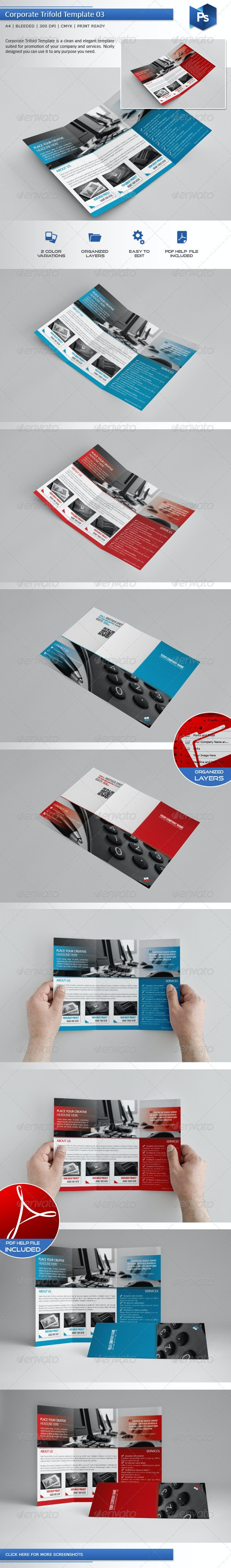 Corporate Trifold Template 03 - Corporate Flyers