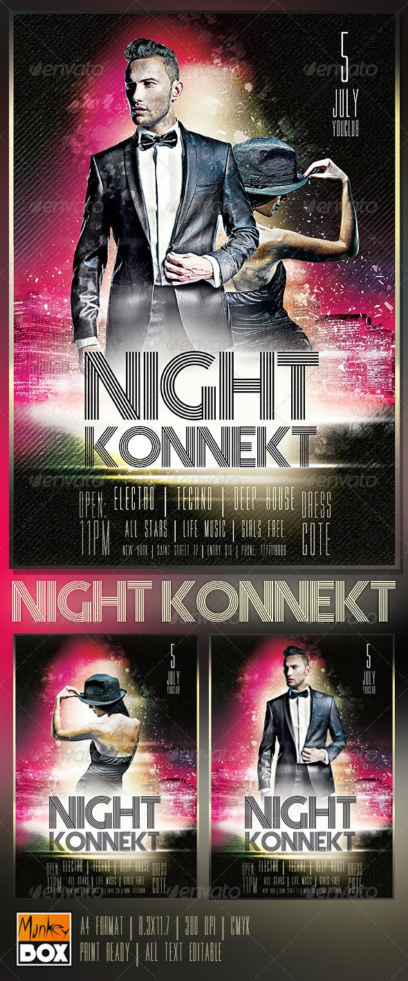 Flyer Night Konnekt - Events Flyers