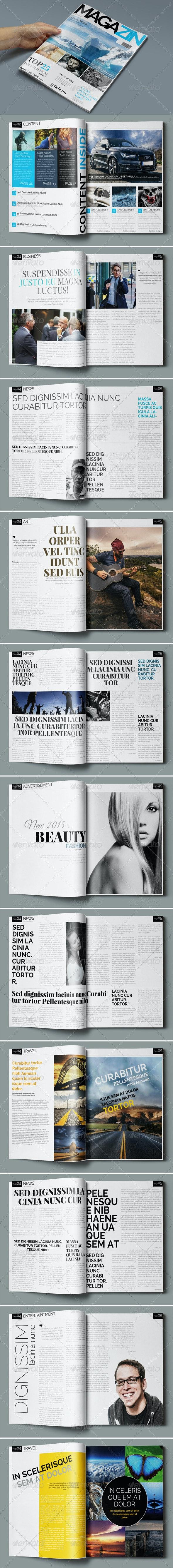 News Magazine Template - Magazines Print Templates