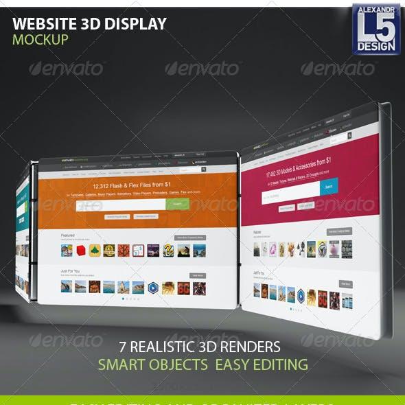 Website 3d Display Mock-Up