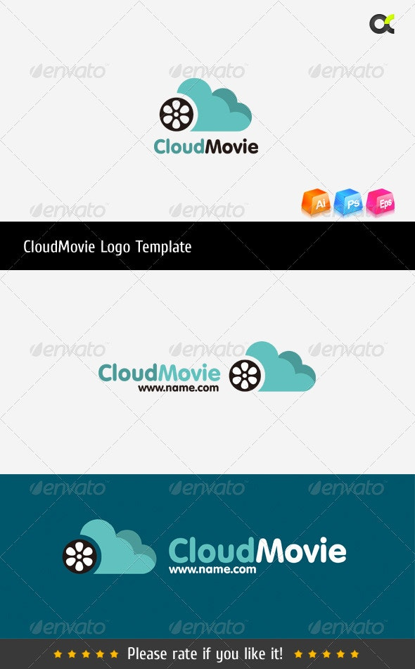 CloudMovie Logo Template - Symbols Logo Templates