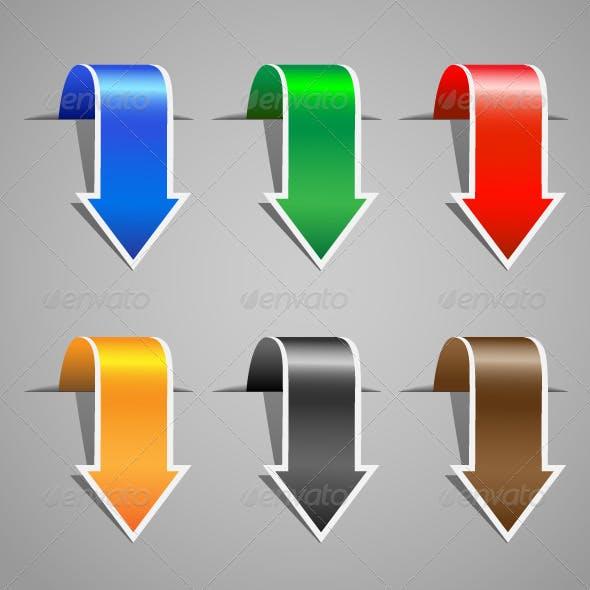 Arrow stickers set