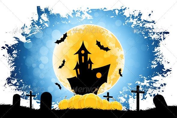 Grungy Halloween Background - Halloween Seasons/Holidays
