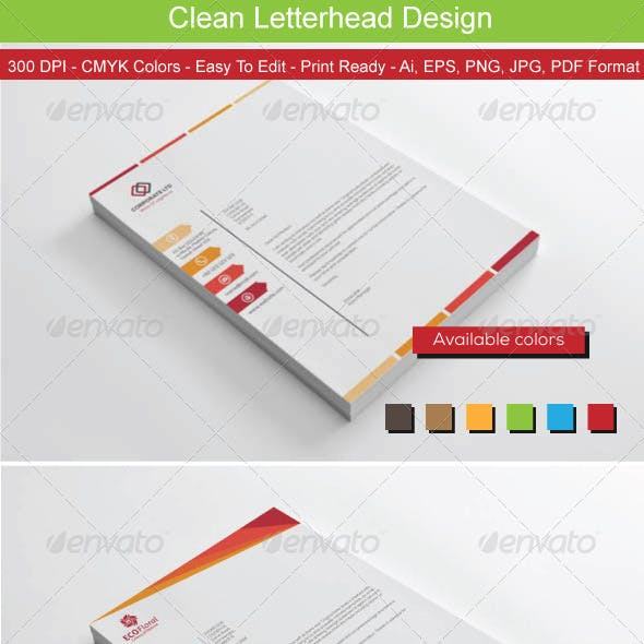 Clean Colors Letterhead Bundle