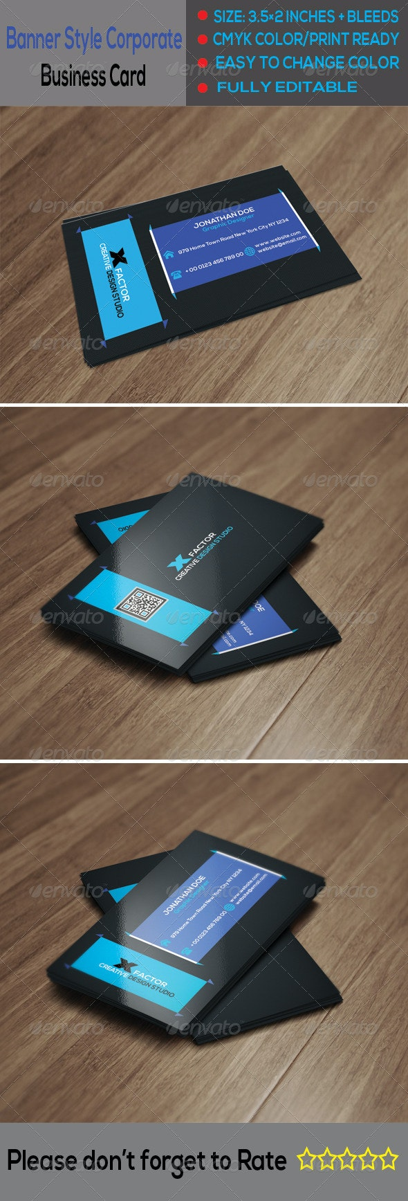 Banner Style Corporate Business Card 2 - Corporate Business Cards