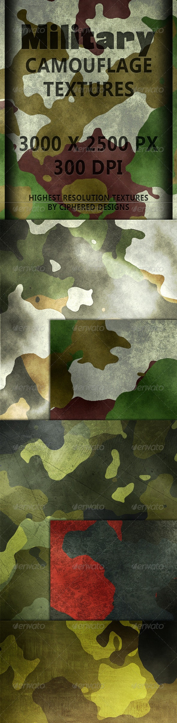 Military Camouflage Textures - Miscellaneous Textures