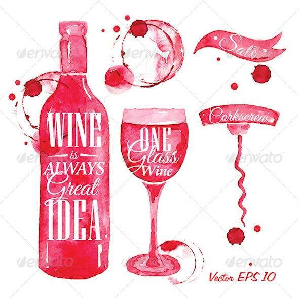 Pointer Drawn Pour Wine