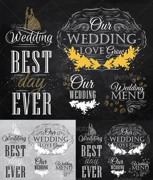 Wedding Lettering Set  - Weddings Seasons/Holidays