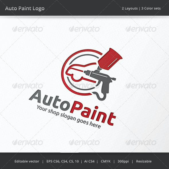 Auto Car Body Paint Logo