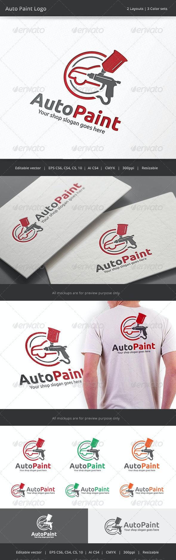 Auto Car Body Paint Logo - Objects Logo Templates