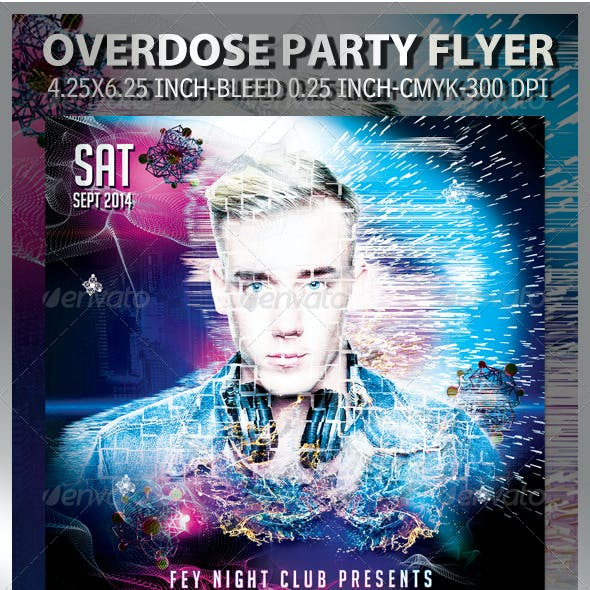 Overdose Party Flyer