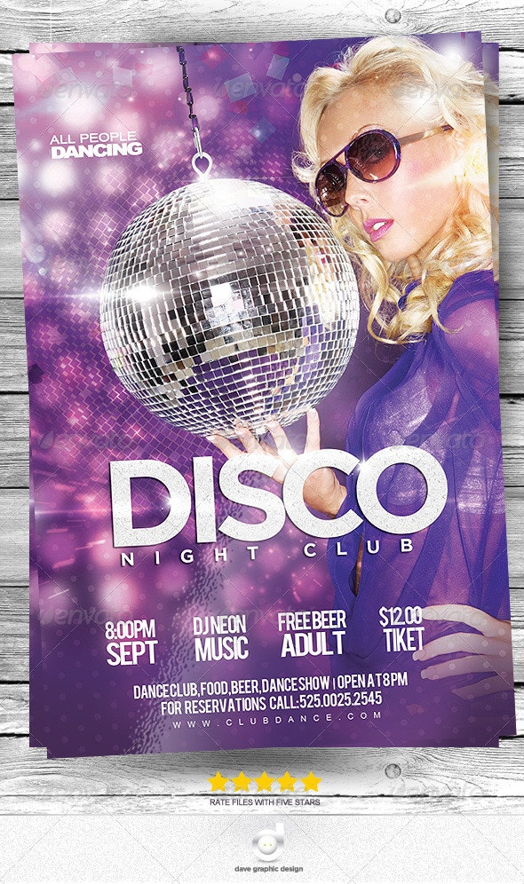 Flyer Disco Club Night Party - Clubs & Parties Events