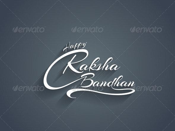 Happy Raksha Bandhan Text Design - Miscellaneous Seasons/Holidays