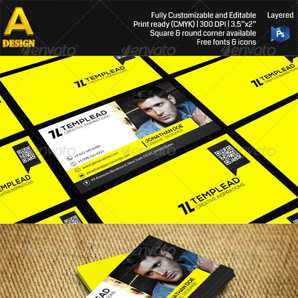 Yellow Corporate Business Card AN0466