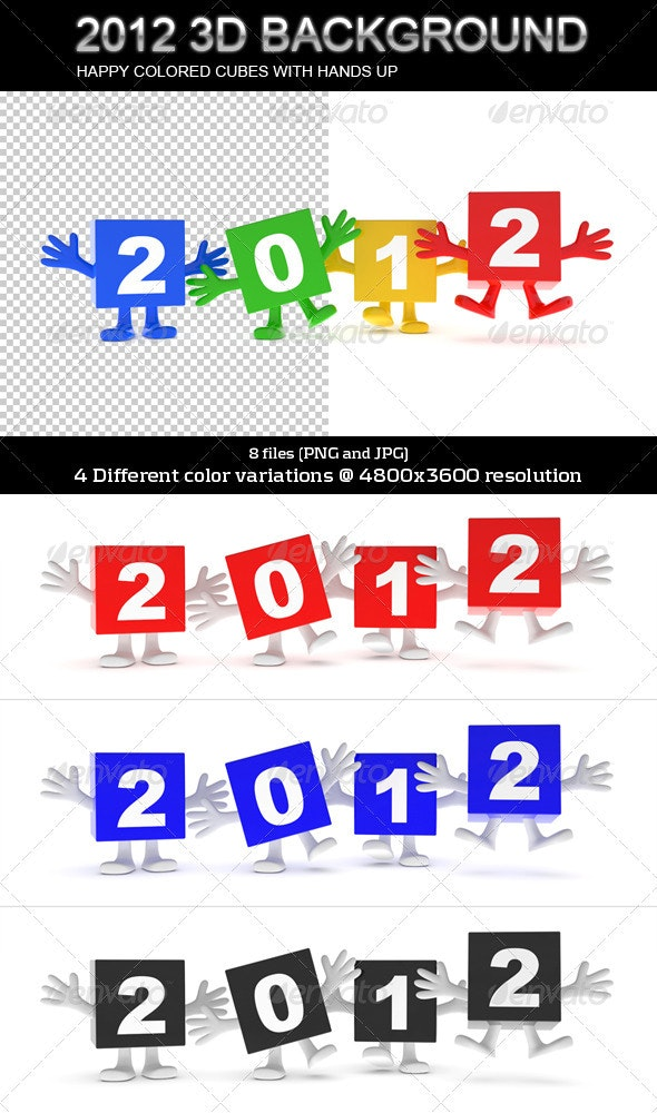 2012 Calendar 3D Background - 3D Renders Graphics