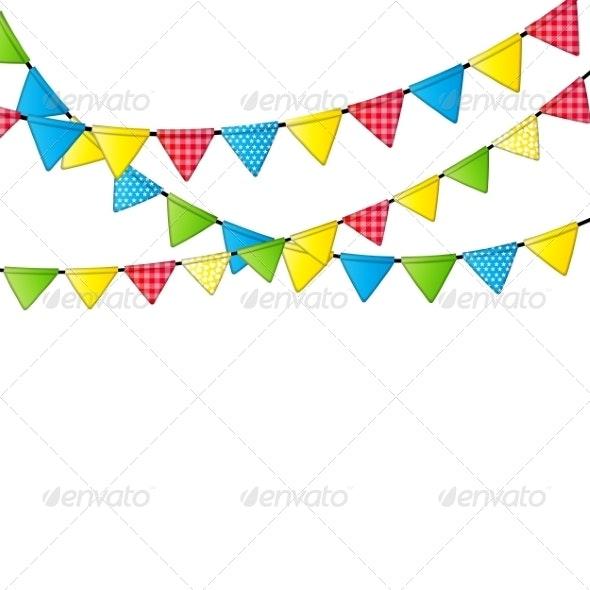Party Flag Background  - Birthdays Seasons/Holidays