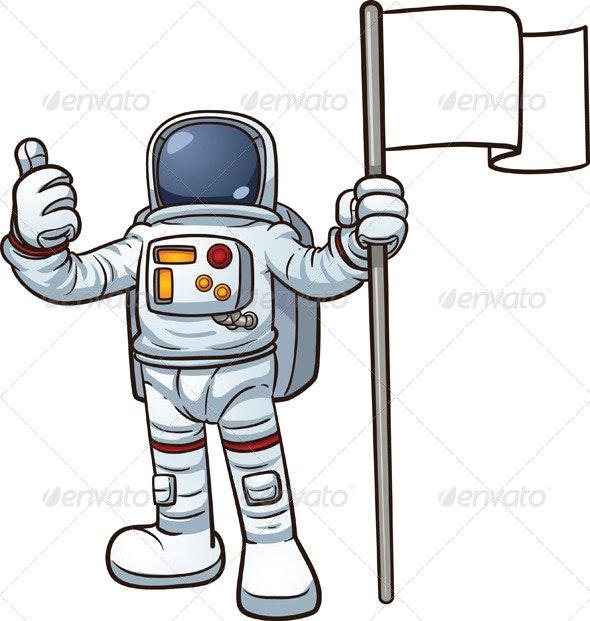 Cartoon Astronaut - Characters Vectors