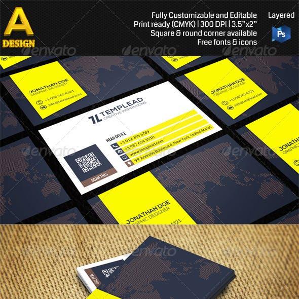 Modern Corporate Business Card AN0467