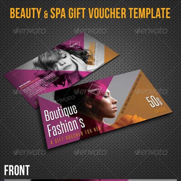 Beauty Fashion Gift Voucher V31