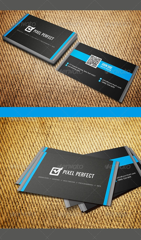 Clean and Minimal Business Card - Corporate Business Cards