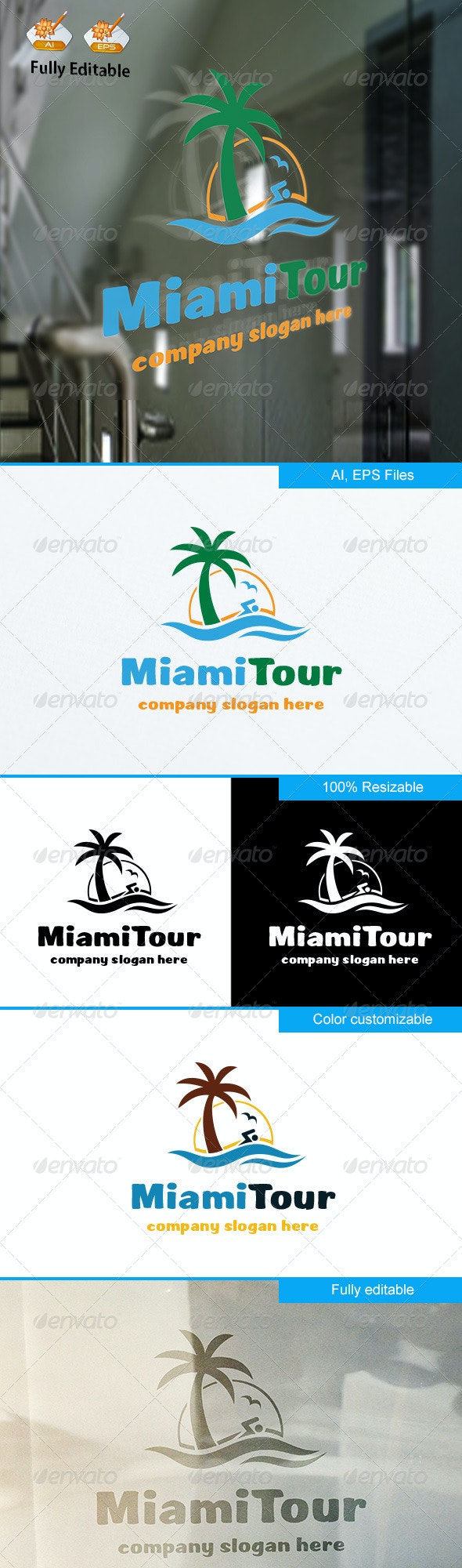 MiamiTour logo - Nature Logo Templates