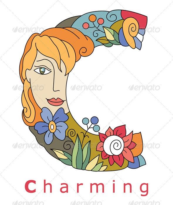 Letter C Charming - Decorative Symbols Decorative