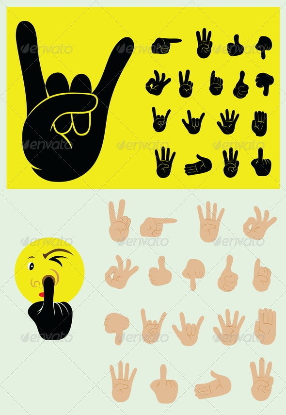 Finger Gesture Set - Man-made Objects Objects