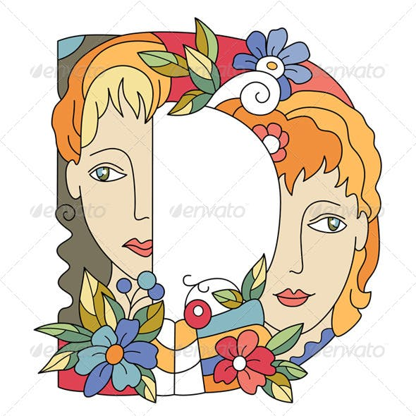 Letter D Decorative