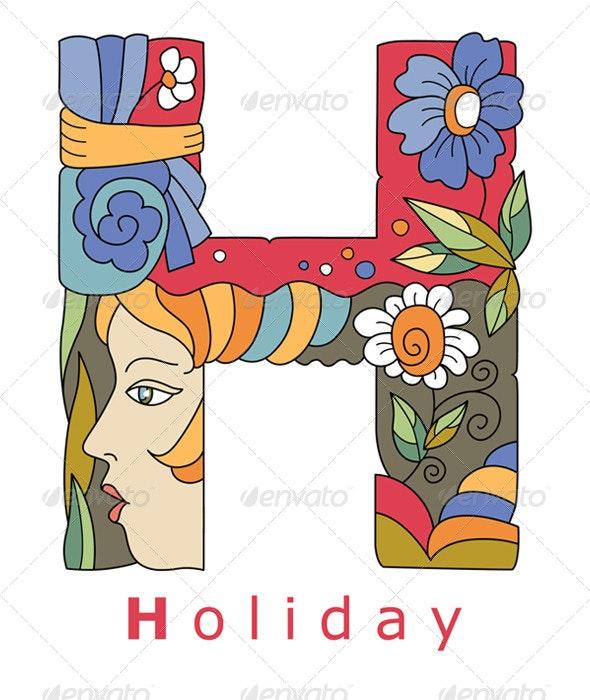 Letter H Holiday - Decorative Symbols Decorative