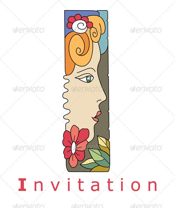 Letter I Invitation - Decorative Symbols Decorative