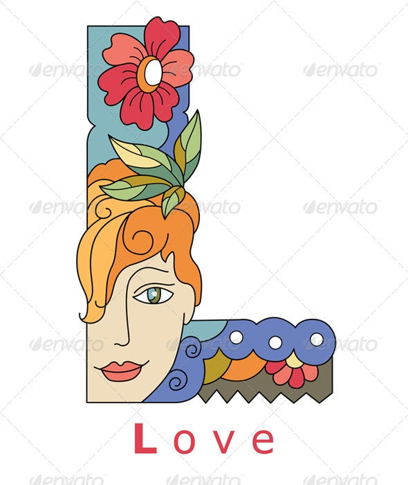 Letter L Love - Decorative Symbols Decorative