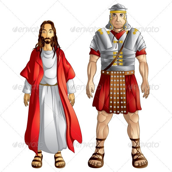 Jesus and Roman Soldier - People Characters