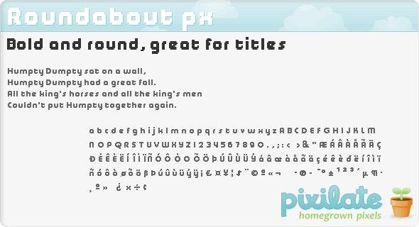 Roundabout px - Sans-Serif Fonts