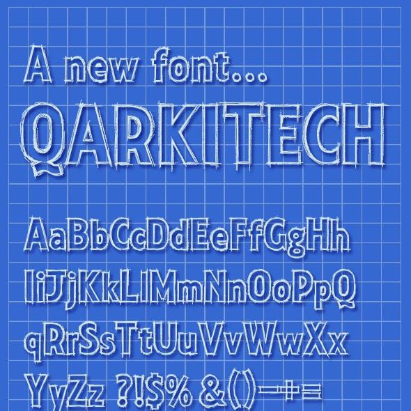 Qarkitech Lettering, Blueprint Minimal Style