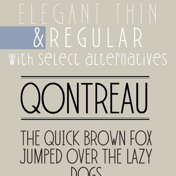 Qontreau; Modern & Elegant Typeface