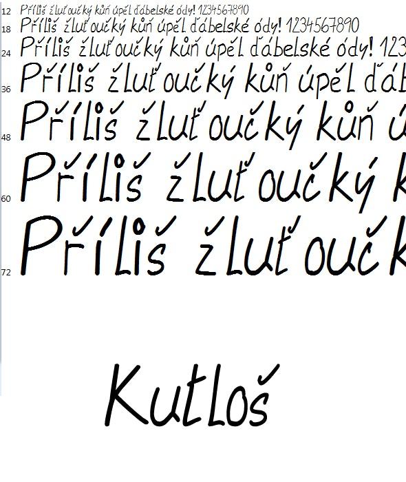 Font Kutlos - Handwriting Fonts