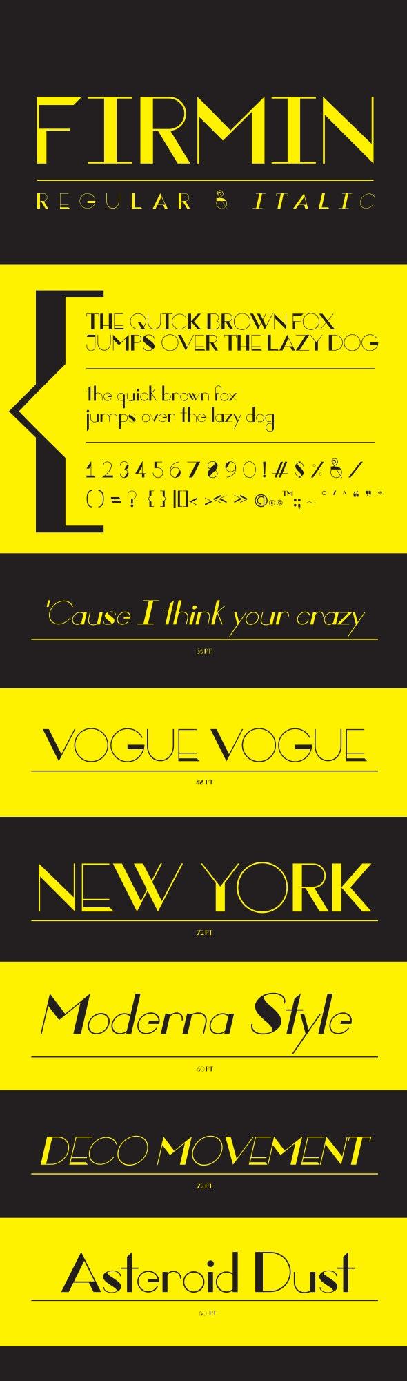 Firmin - Sans-Serif Fonts